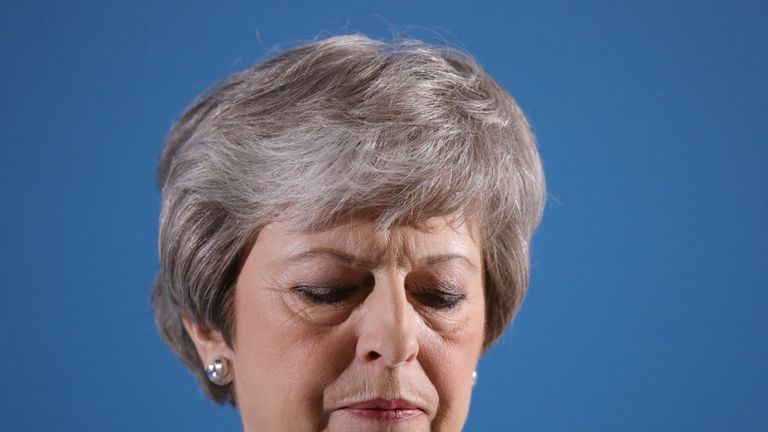 Theresa May faced anger from her own party as the results became clear on Friday