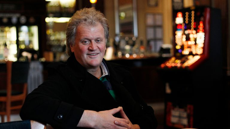 Tim Martin, chairman and founder of pubs group Wetherspoon, attends an interview with Reuters at the Metropolitan Bar in London January 13, 2012