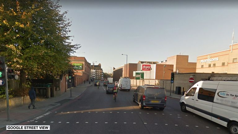The body was found in a wheelie bin on Tollington Road, Islington