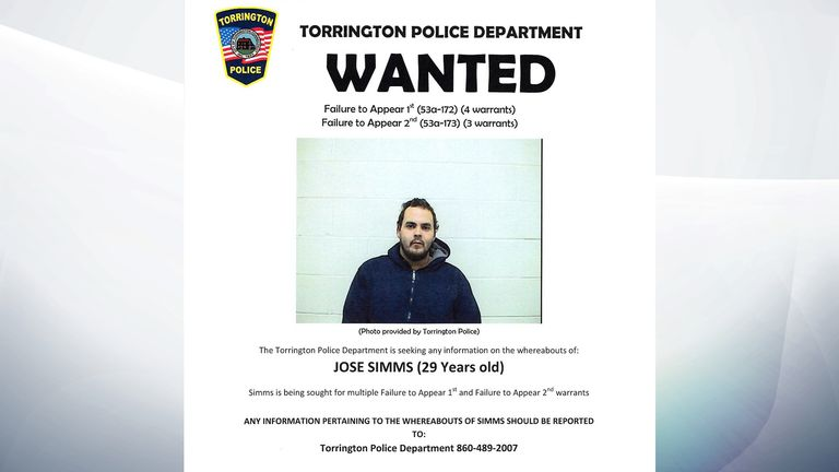 Jose Simms' wanted poster