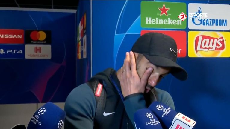 Tottenham forward Lucas Moura is emotional after Champions League semi-final win