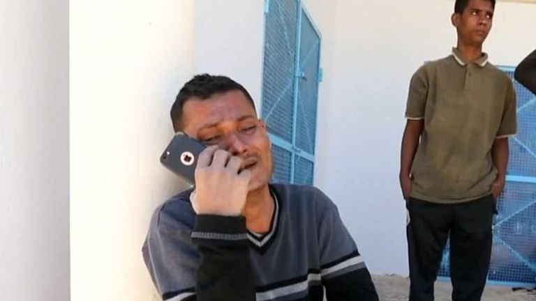 A survivor recounted his horror after a boat carrying migrants capsized off coast of Tunisia