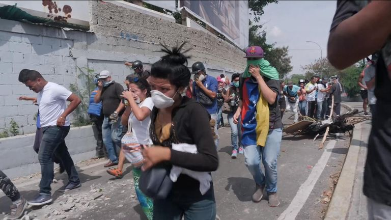 Tear gas released again during Caracas protests