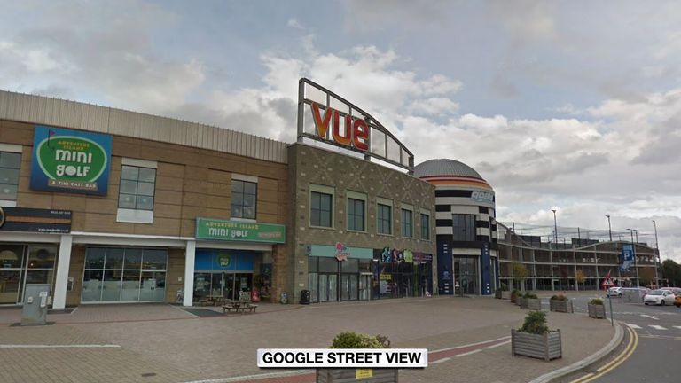 The incident involved a 'gold class' theatre at a Vue cinema in Birmingham. Pic: Google Street View