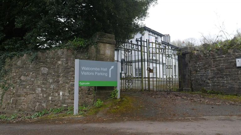 Watcombe Hall in Devon has been closed down