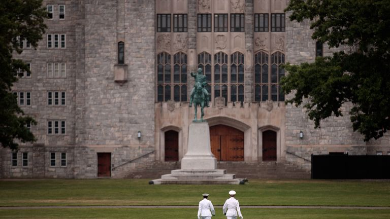 Cadets at the United States Military Academy at West Point in New York