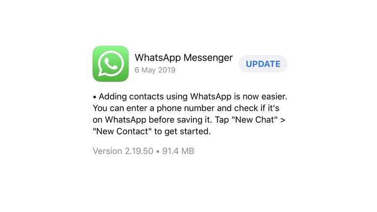 The most recent version of WhatsApp was released on 6 May