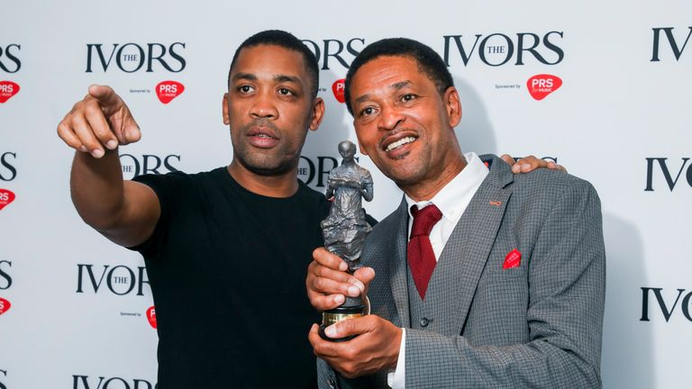 "Wiley (left) dedicated his award to his father Richard (right), and credited him for giving him the ""gift of music"""