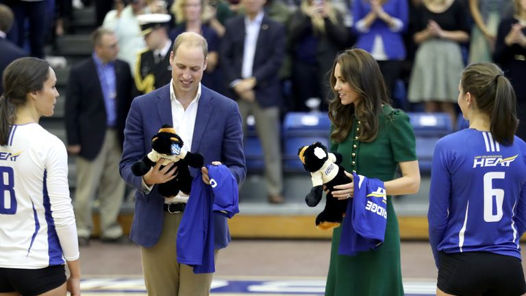 William and Catherine accept gifts on tour in Canada