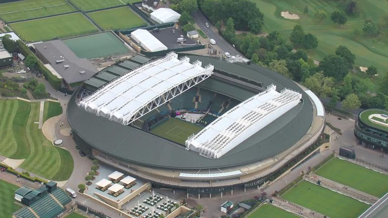 The roof takes the pressure off organisers to get through matches when there is rain