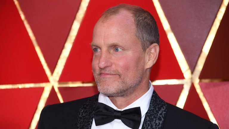 Woody Harrelson's image led to an arrest of a man