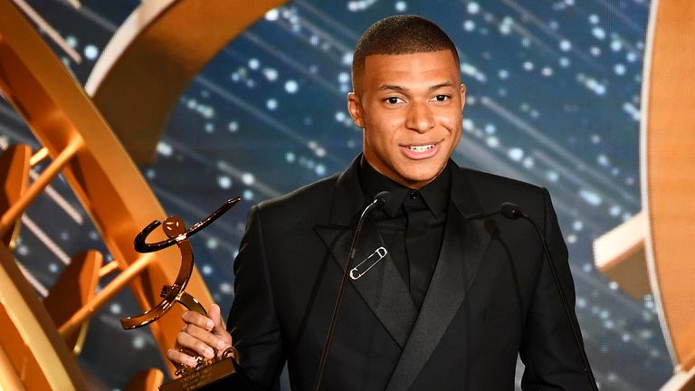 Mbappe cast doubt over his future at PSG at the Ligue 1 awards
