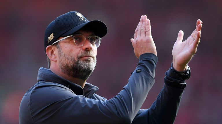 12ac54ab7e4 Jurgen Klopp s Liverpool side fell just short of a first Premier League  title in 29 years