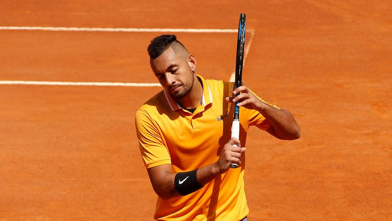 Nick Kyrgios throws chair at Italian Open and storms off tennis court | Tennis News |