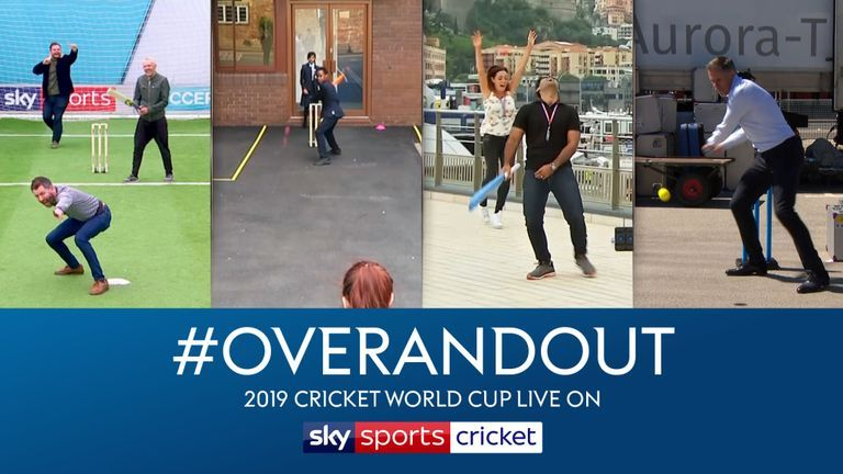 Get into the World Cup spirit by taking part in our one over cricket challenge #overandout - Sky Sports faces have already had a go!