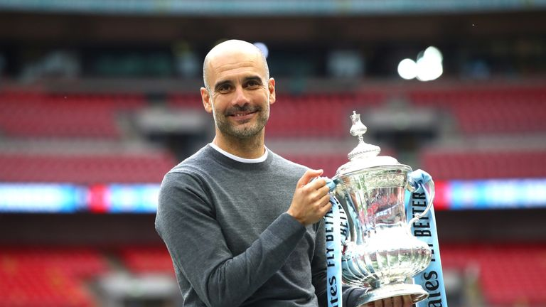 Pep Guardiola believes Manchester City's domestic treble is harder to achieve than winning the Champions League