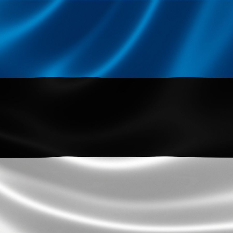 The flag of Estonia