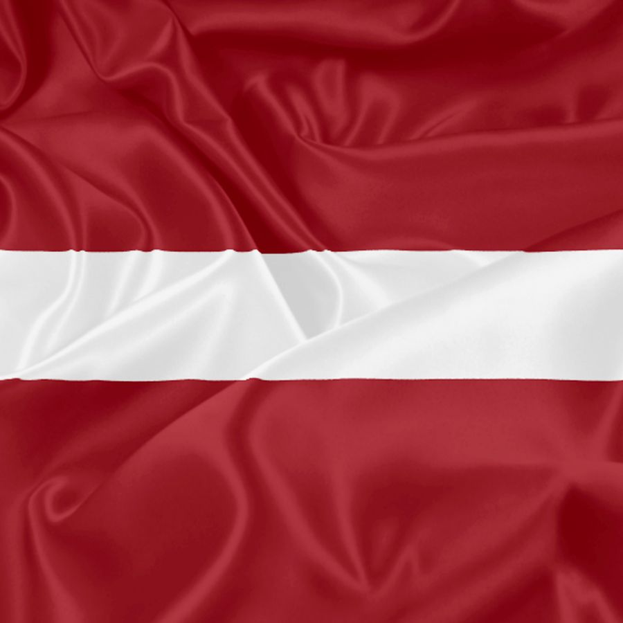 The Latvian flag