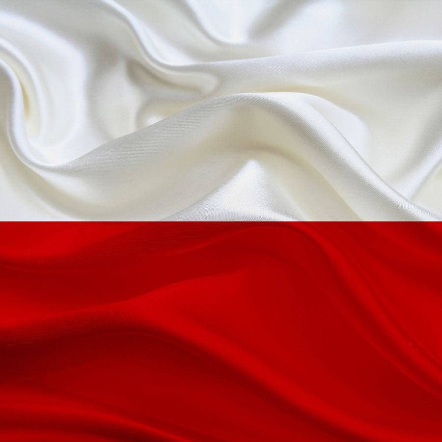 The Polish flag