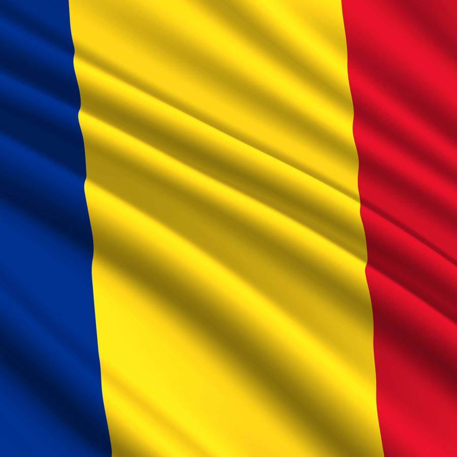 The flag of Romania