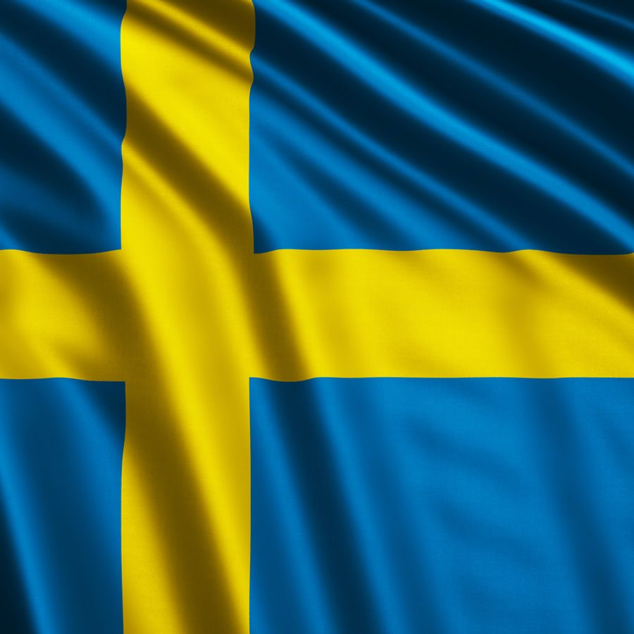 The Swedish flag