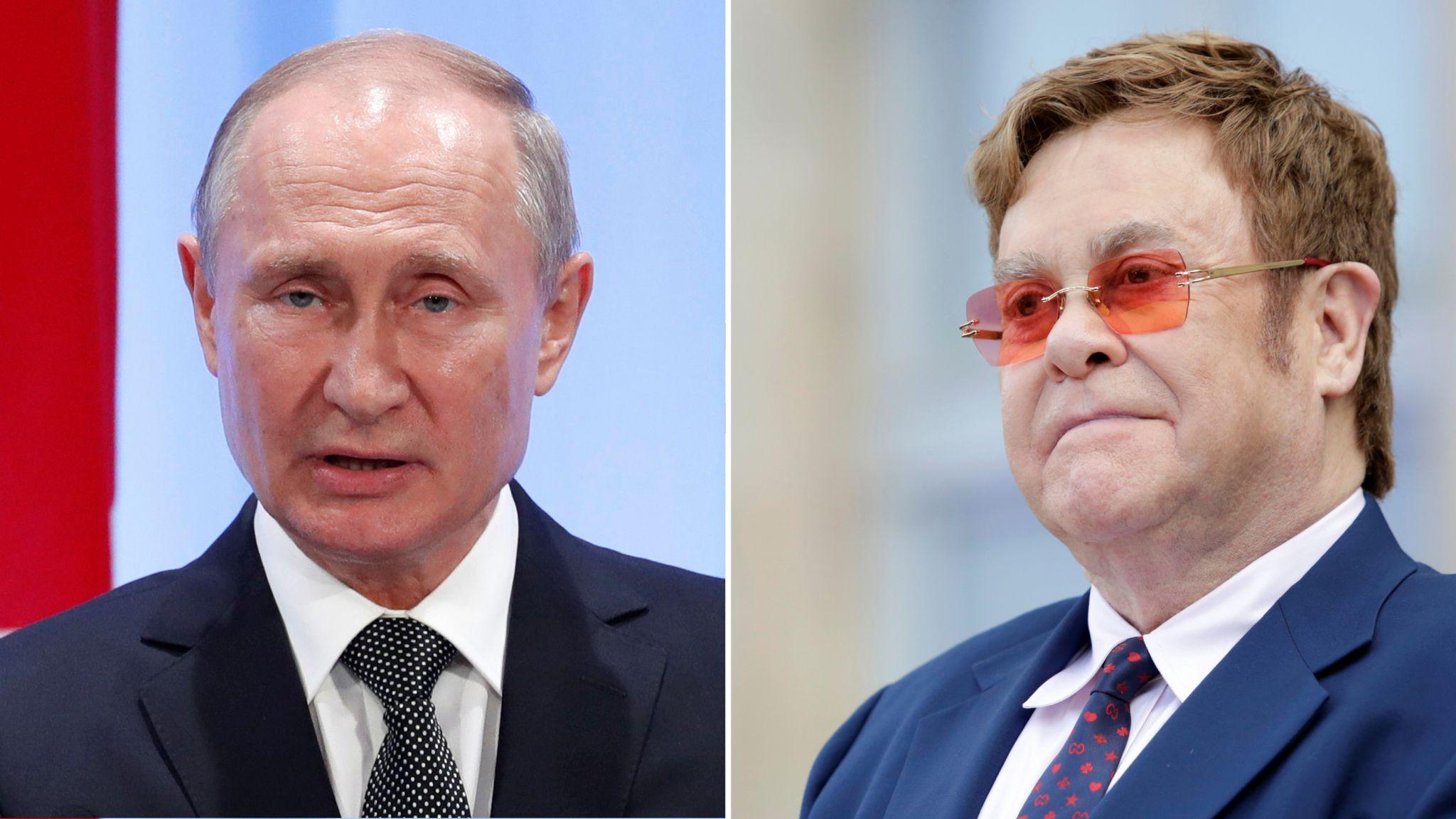 Vladimir Putin Tells Elton John He Is Mistaken Over Russian Lgbt Rights World News Sky News