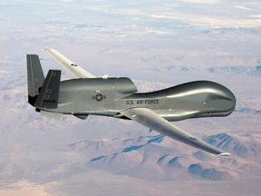 The US military has denied it had a drone over Iran (file pic)