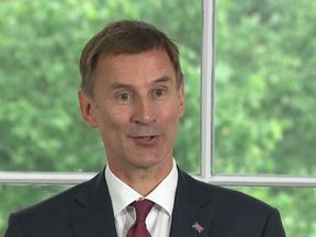 Jeremy Hunt laughs about broadcasters getting his surname wrong