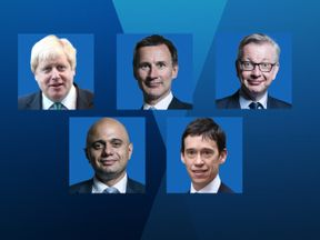 The remaining five candidates for the Tory leadership