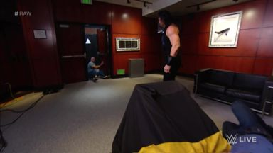 Reigns storms into McMahon's VIP room!
