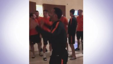 Van Dijk and Wijnaldum's special welcome