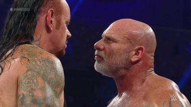 Goldberg spears Undertaker...twice!