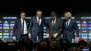 Sarri unveiled by Juventus