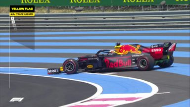 Verstappen goes for a spin