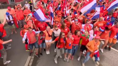 Netherlands party after WWC win