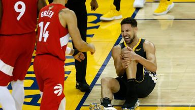 Knee injury knocks Klay out of Game 6