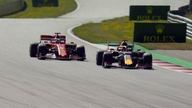 Verstappen ahead of Vettel
