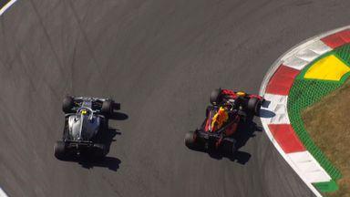 Verstappen overtakes Bottas