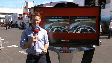 Hamilton & Bottas qualifying comparison