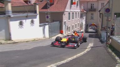 Max races F1 car through Austrian streets