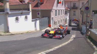 Max races F1 car through Austrian streets