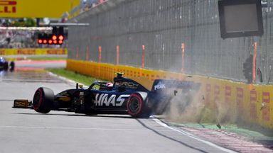 Magnussen crashes out