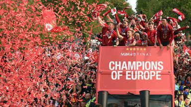 Crowds flock to Liverpool victory parade