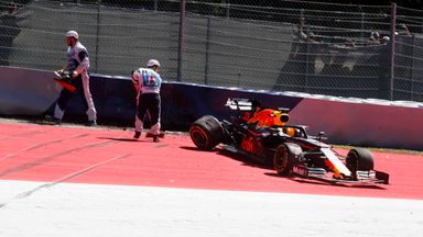 Verstappen crashes out