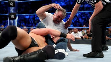 Shane McMahon chokes out The Miz!