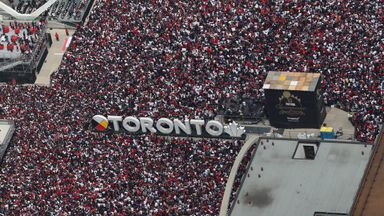 Shooting mars Toronto Raptors parade
