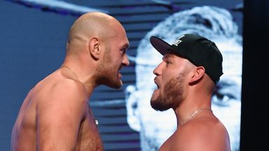 Fury and Schwarz weigh-in