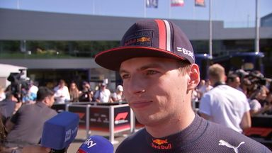 Verstappen smiling after qualifying