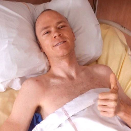 Chris Froome 'lucky to be here' after horror crash
