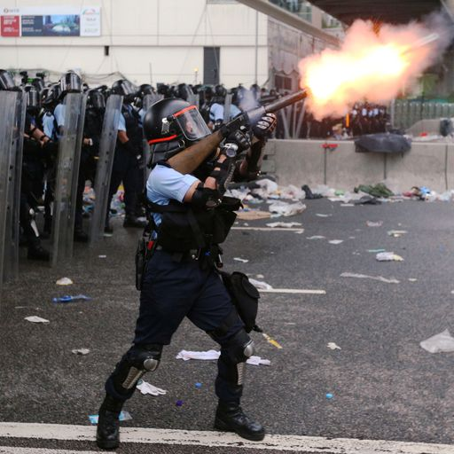 Panic spreads as riot officers fire tear gas
